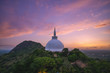 canvas print picture - Mihintale in Anuradhapura, Sri Lanka at dusk