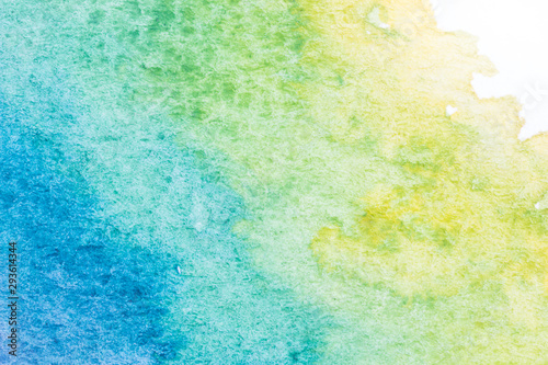 Abstract background image from watercolor on white paper.