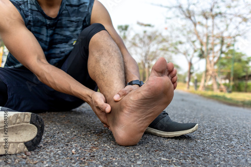 Photo Runner have bruise ankle from sprain accident