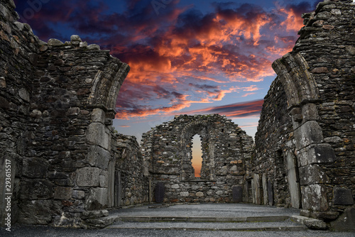 Monastic cemetery of Glendalough, Ireland Canvas Print