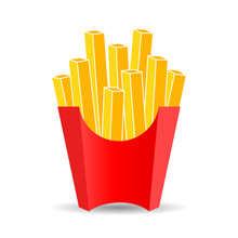 French Fries Vector Cartoon