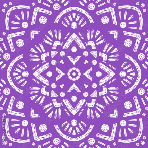 Canvas Print Beautiful Mandala Background. Oriental. Vector Decoration.