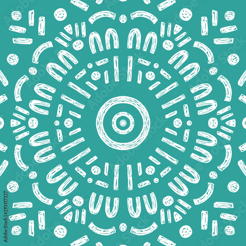 Foto auf Gartenposter Boho-Stil Beautiful Mandala Background. Oriental. Vector Decoration.