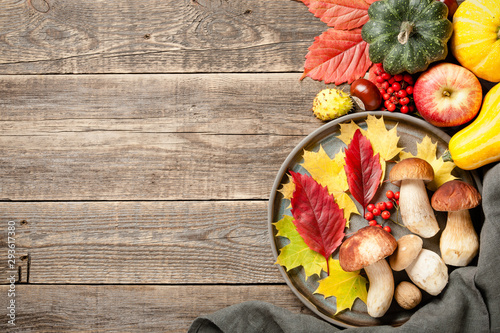 Autumn holiday concept.Thanksgiving background - 293617380