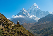 The Buddhist Stupa At The Edge...