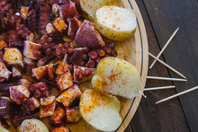 Pulpo A Feira, Traditional Galician Style Octopus Dish