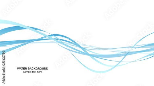 Obraz water surface line image, background white vector illustration wallpaper material - fototapety do salonu