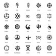 canvas print picture - Magical Symbol Glyph Icons Pack