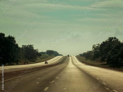 Fotomural  Caribbean road trip