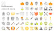 Halloween colored iconset