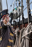 Pirat entert Segelschiff