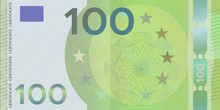 Voucher Template Banknote 100 Euro With Guilloche Pattern Watermarks And Border. Green Background Banknote, Gift Voucher, Coupon, Money Design, Currency,note,check, Cheque, Reward, Certificate Design