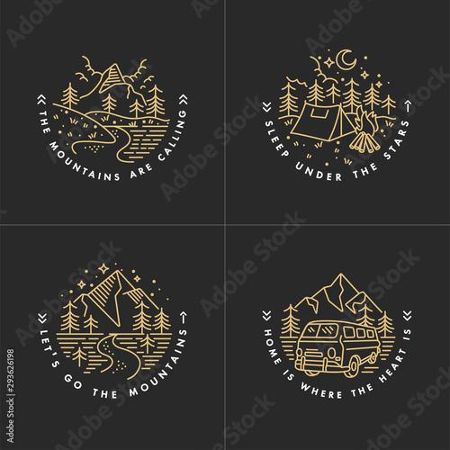 Pinturas sobre lienzo  Travel set with emblems