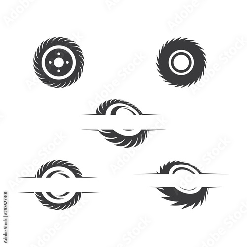 Industrial saw vector illustration icon Fototapete
