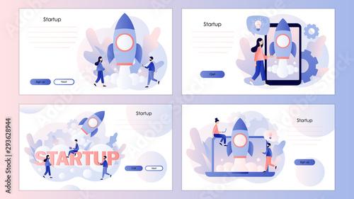Business Start Up concept Fototapeta