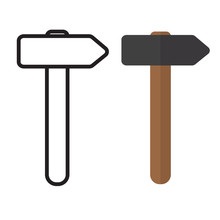 Hammer Tool Icon- Vector Illus...