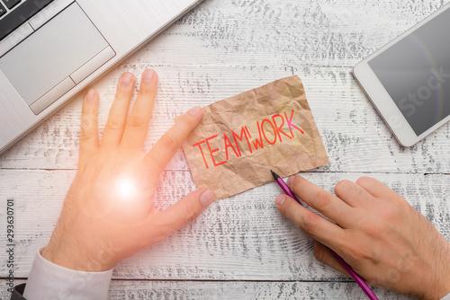 Photo Handwriting text writing Teamwork