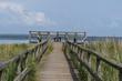 Aussichtslattform auf das Wattenmeer, symmetrisch