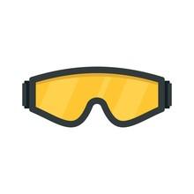 Safety Glasses Icon. Flat Illu...