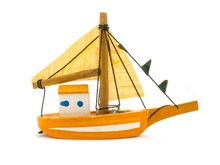 Yellow Toy Small Sailing Boat ...