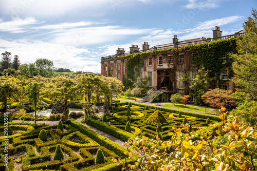 The garden of Bantry House, Ancient Mansion in  Co. Cork, Ireland Canvas Print