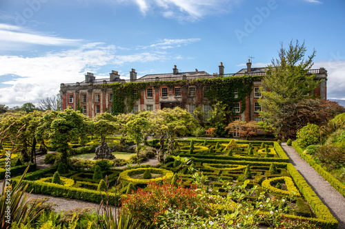 The garden of Bantry House, Ancient Mansion in  Co. Cork, Ireland Wallpaper Mural
