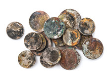 Old Rusted Coins,Oxidized Old ...