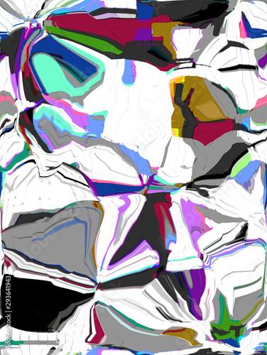 Fotobehang Paradijsvogel Abstract colored pattern. Digital art