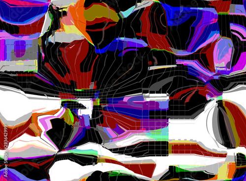 Foto op Plexiglas Paradijsvogel Abstract colored pattern. Digital art