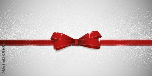 Fototapeta Glitter red bow background obraz