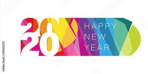 Fototapeta Carte de vœux 2020, nouvel an. obraz