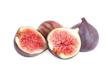 Tasty Fresh Fig Fruits On Whit...