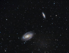 M81 And M82 Galaxy In The Night Sky