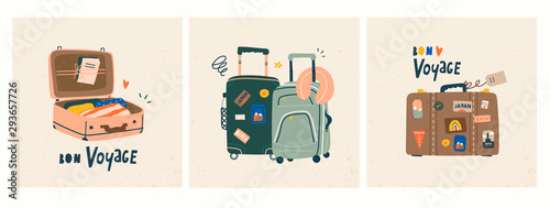 Fototapeta Bon voyage! Luggage bags, suitcases, baggage, travel bags