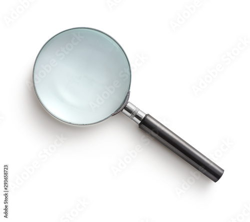 Magnifying glass isolated on white background Canvas-taulu