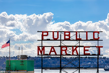 The Neon Public Market Sign At...