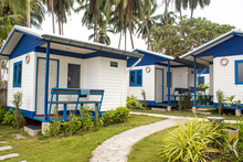 Blue And White Holiday Houses ...