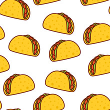 Tacos Seamless Pattern. Mexica...