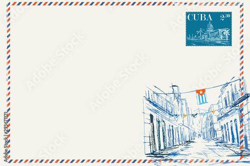 Kartka pocztowa w stylu vintage Canvas Print