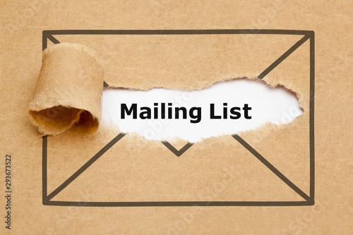 Fotografija Mailing List Torn Paper Concept