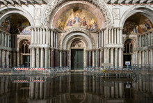 Flooded St Marks Catherdral At...