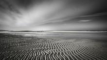 Horizontal Greyscale Shot Of M...