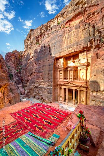 Al Khazneh - the treasury temple, ancient city of Petra, Jordan Tablou Canvas