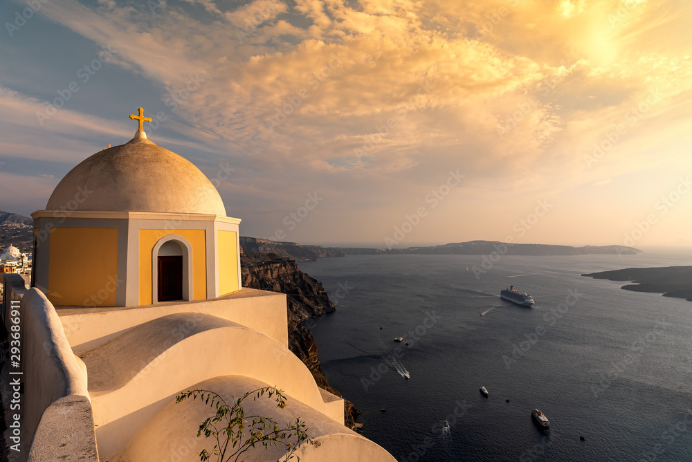 Fototapety, obrazy: Thira village - Aegean sea - Santorini island - Greece