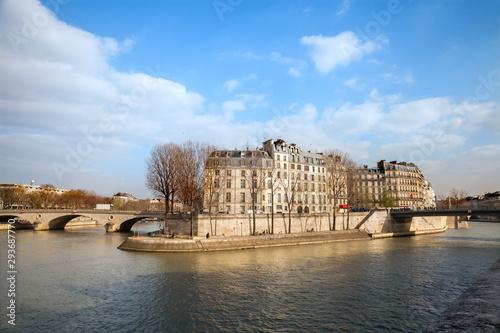 Bourbon embankment on Saint Louis isle in Paris, France