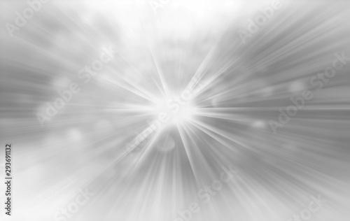 Fototapeta Abstract grey white blurred radiant exploding sunburst banner background obraz
