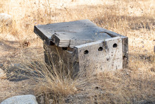 Old Wooden Abandoned Box On Di...