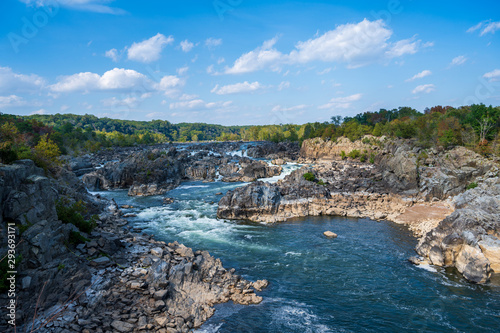 Great Falls Potomac Waterfall in Fairfax Virginia Wallpaper Mural