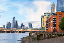 London At Sunset With Riversid...