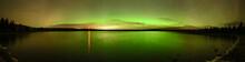 Bright Green And Orange Aurora...